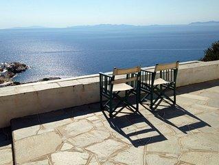 Gorgeous villa with breathtaking view of the Chrysopigi Monastery & the sea