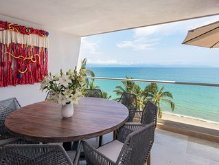 New Luxury Oceanfront Exclusive 2 BR in Bucerias