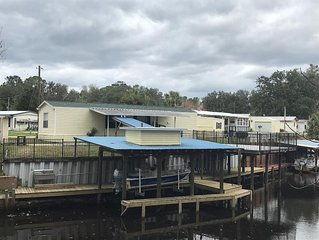 Waterfront  entire home.   Docking  with fish cleaning station. Quiet  location.