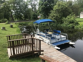 Pontoon and cabin rental on Martiny Chain of Lakes