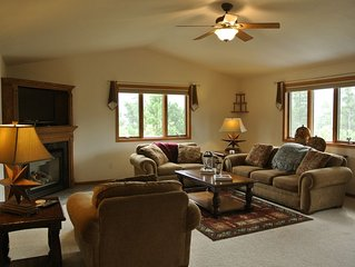 Complete with hot tub, vintage pool table, bonfire pit and indoor fireplace