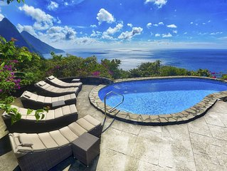 Villa Atabeyra - St Lucian Hillside Escape with Stunning Ocean and Piton Views