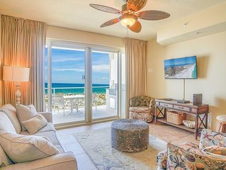 Enjoy a Beach Front Condo with Marvelous Views On Site Spa and Free Beach Chairs