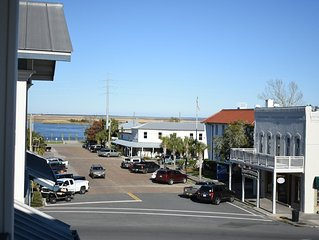 Outstanding View of Downtown Apalachicola & River