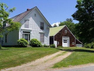 Greek Revival farmhouse with modern amenities