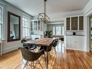 Unique, newly renovated and spacious 1600 square foot apartment.
