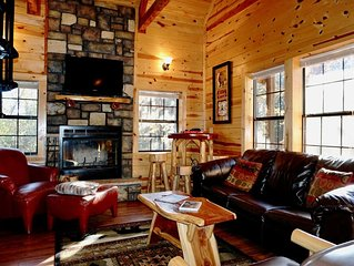 Enjoy your getaway in the Branson Cabin which includes a Hot Tub/Foosball, WiFi.