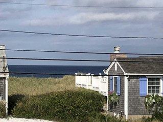 Watership Dune nestled across the street from East Sandwich Beach.