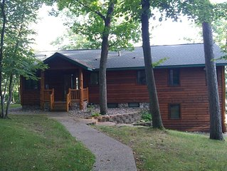 Lake home on N side of Rush Lake, Faces South with a  beautiful view. Home looks