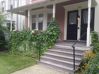 Quiet Downtown Hudson with Rocking Chair  Porch