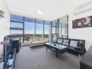Australia Tower-High level with sunset View Olympic Park-Qudos ANZ