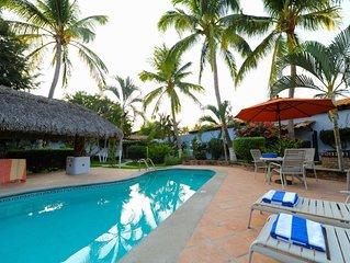 1 bedroom at 1 minute to beach, chlorine-free pool, free yoga