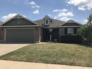 Private home, landscaped yard, patio w/ covered sitting area, neighborhood pool