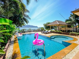 Absolute Beach Front Villa with Private Jet Pool and Garden
