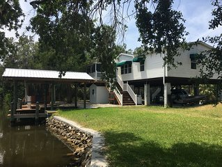 3 bed 2 bath WATERFRONT home off the ST MARTIN'S RIVER & GULF OF MEXICO!