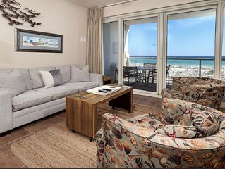 Ideal Condo with Gulf Views and Free Beach Chairs, On Site Spa & Gym!
