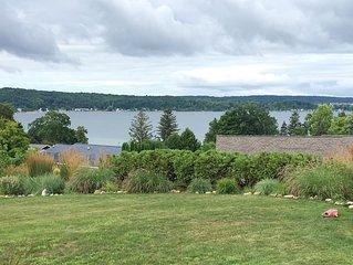 Spectacular panoramic views of Crystal Lake near downtown Beulah