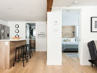 Industrial Styled One Bedroom Guest Suite