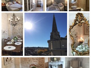 Luxury penthouse apartment in centre of St Rémy with amazing views from terrace