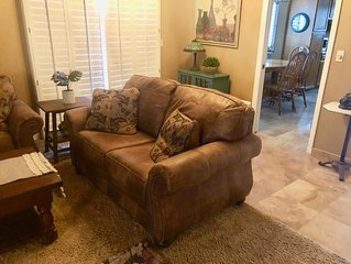Quiet spacious patio home, perfect location, nice amenities, low cleaning fee