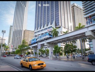 Downtown Miami 2 bedroom, 5min from Port of Miami