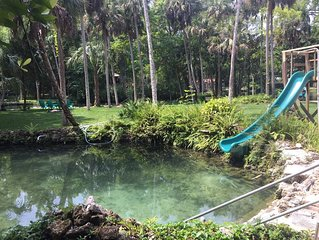 Unique River Escape! Private Waterfront Home. The Backyard Manatee Club.