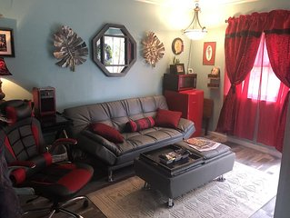 Close to our airport,  brand new and very cool studio apt. Off street parking!