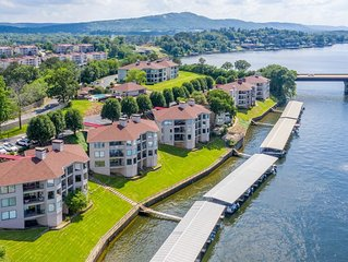 Gorgeous waterfront condo, professionally decorated.  Gated, with boat slip.