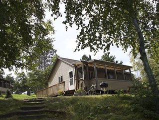 Beautiful  2-bed lakeside cabin on pristine 100+  acre lake