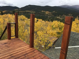 Savor Colorado Autumn Views from 9263 feet at The Cabin in the Blue Sky