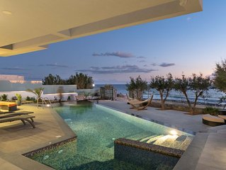 Sea front luxury contemporary villa with infinity pool & spa, up to 10 bedrooms