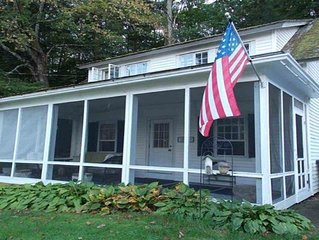 Lovely Cottage On Webster Lake With Screened In Porch Next To The  Rail Trail