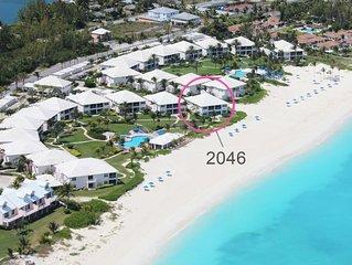 FRONTLINE Condo with SENSATIONAL bidirectional views of Treasure Cay Beach!
