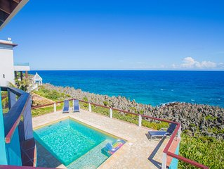 Stunning Oceanfront Villa private pool, Dramatic Views, & Constant Sea Breeze