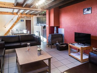 Comfortable bungalow with a terrace located in the Ourthedal