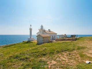 Beautiful lighthouse with magnificent sea view