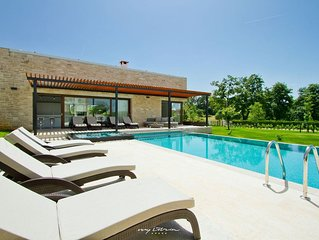 Modern villa with infinity pool in Central Istria