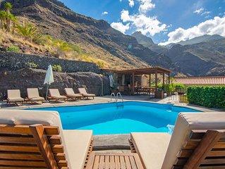 Casa rural con piscina compartida en Agaete