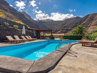 Casa rural con piscina privada en El Risco, Agaete
