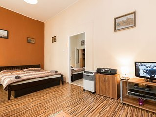 Letna apartment in Holesovice with WiFi & air conditioning.