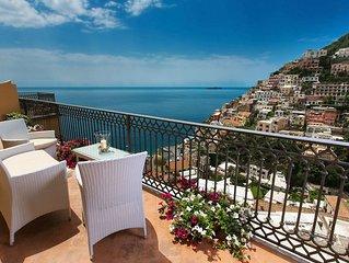 Casa Mauro al centro di Positano, con 3 camere da letto, puo ospitare fino a 6 p