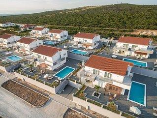 Modern family villa with pool near Zadar