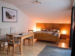 Ferienwohnung für 1-3 Personen, 40 qm, Wohn- und Schlafraum kombiniert, Balkon