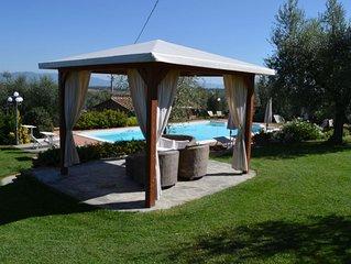 schönes Haus mit Pool in herrlicher Panoramalage , in der Nähe Ciggiano