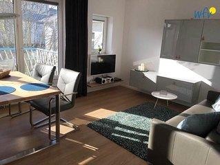 Frisch renovierte Ferienwohnung mit sonnigem Balkon und Garten!