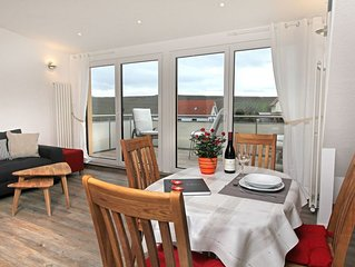Ferienwohnung, 70qm, 2 Schlafzimmer, Balkon, max. 4 Personen