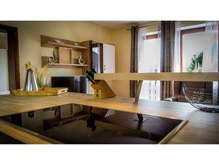 Vitalappartement 16 Oasis, Junior Suite, Küche, Bergblick, 60qm