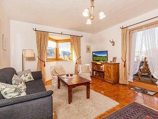 gemutliche Ferienwohnung mit ca. 53 qm, Balkon und Bergblick