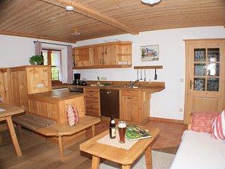 Ferienwohnung 'Wilder Kaiser' im Zuhäusl 72 qm mit drei Schlafzimmer und Balkon°