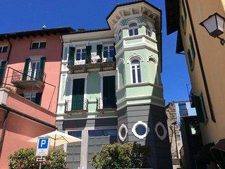 Charmante turmartige Maisonette-Wohnung direkt an der Seepromenade von Ascona